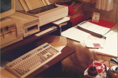 La oficina en mi cuarto