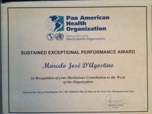 Award-PAHO-Performance